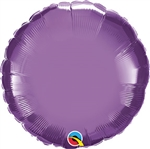 Qualatex Chrome Purple Round Foil Balloon