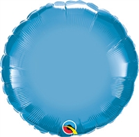 Qualatex Chrome Blue Round Foil Balloon