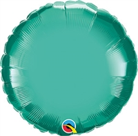 Qualatex Chrome Green Round Foil Balloon