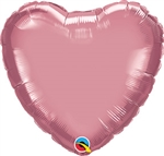 Qualatex Chrome Mauve Heart Foil Balloon