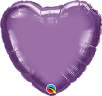 Qualatex Chrome Purple Heart Foil Balloon
