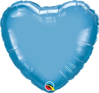 Qualatex Chrome Blue Heart Foil Balloon
