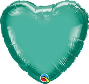 """GREEN HEART 18/"""" FOIL BALLOON"""