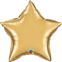 Qualatex Chrome Gold Star Foil Balloon