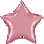 Qualatex Chrome Mauve Star Foil Balloon