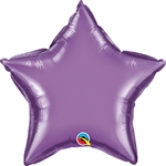 Qualatex Chrome Purple Star Foil Balloon