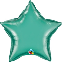 Qualatex Chrome Green Star Foil Balloon