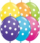 Tropical Assortment with WHITE Dots Qualatex Balloons