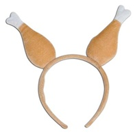 Drumstick Boppers . A plush headband with turkey legs on top