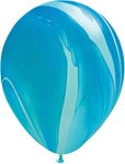 11 inch SuperAgate Qualatex BLUE Rainbow, Price Per Bag of 25