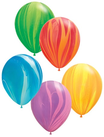 K'Mich Weddings - wedding planning - balloons - 11 inch SuperAgate Qualatex RAINBOW Assortment, Price Per