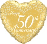 18 inch Happy 50th Anniversary Heart