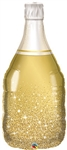 Golden Bubbly Wine Bottle Foil Balloon