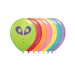 5 inch Qualatex Alien Face Festive Assortment, Price Per Bag of 100