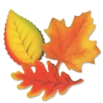12in Printed Leaves, Price Per Package of 9