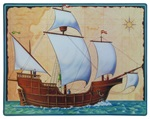23 inch Tall Ship Cutout