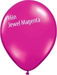 16 inch Qualatex Jewel MAGENTA Latex Balloon