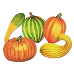 16 inch fall vegetables cutout decoration