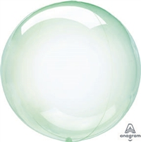 GREEN Crystal CLEARZ Poly Balloon