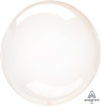 ORANGE Crystal CLEARZ Poly Balloon