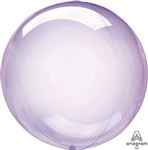 PURPLE Crystal CLEARZ Poly Balloon