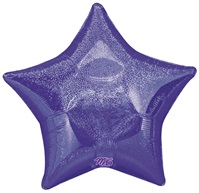 Purple Star Dazzler Holographic Foil Balloon