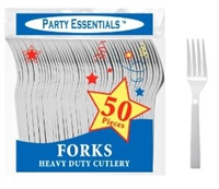 Plastic Fork Medium Weight WHITE