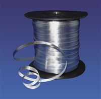 SILVER Foil Curling Ribbon 3/16in x 250yd