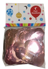 1 inch Metallic ROSE GOLD Foil Confetti