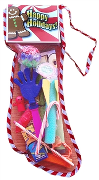 Toy and Candy Filled Christmas Stocking