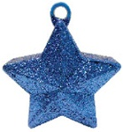 170g Glitter Star Balloon Weight BLUE