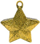 170g Glitter Star Balloon Weight GOLD
