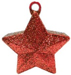 170g Glitter Star Balloon Weight RED