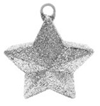 170g Glitter Star Balloon Weight SILVER