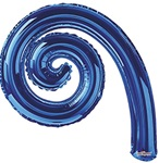 14 inch Kurly Spiral BLUE