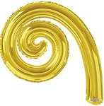 14 inch Kurly Spiral GOLD