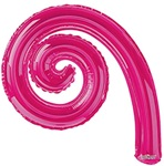 14 inch Kurly Spiral HOT PINK