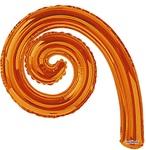 14 inch Kurly Spiral ORANGE