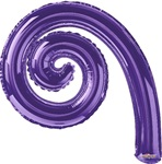 14 inch Kurly Spiral PURPLE