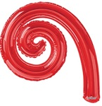 14 inch Kurly Spiral RED