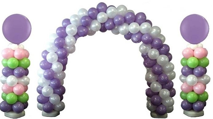 Deluxe latex balloon arch and column kit for Balloon arch decoration kit