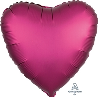 Satin Luxe Pomegranate Heart