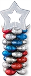 RED, SILVER, BLUE MagicArch Balloon