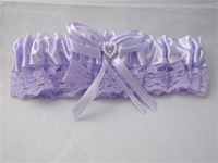Garter/Arm Band Purple with Purple Lace Heart