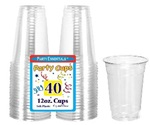 12oz CLEAR Soft Plastic Cup
