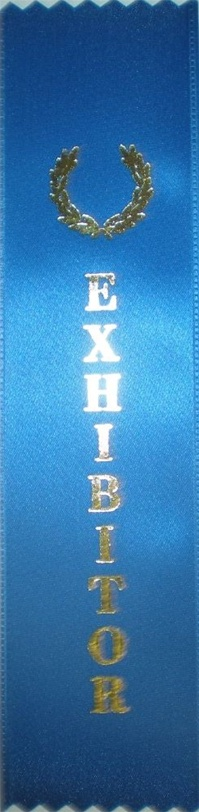 2in x 8in BLUE EXHIBITOR Ribbon