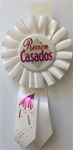 6 1/2in Recien Casados Rosette Award Ribbon