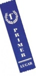 2in x 8in Spanish BLUE 1st Place Ribbon