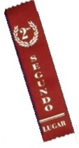 2in x 8in Spanish RED 2nd Place Ribbon