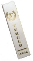 2in x 8in Spanish WHITE 3rd Place Ribbon